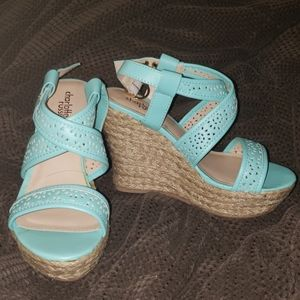 Mint Colored Wedges